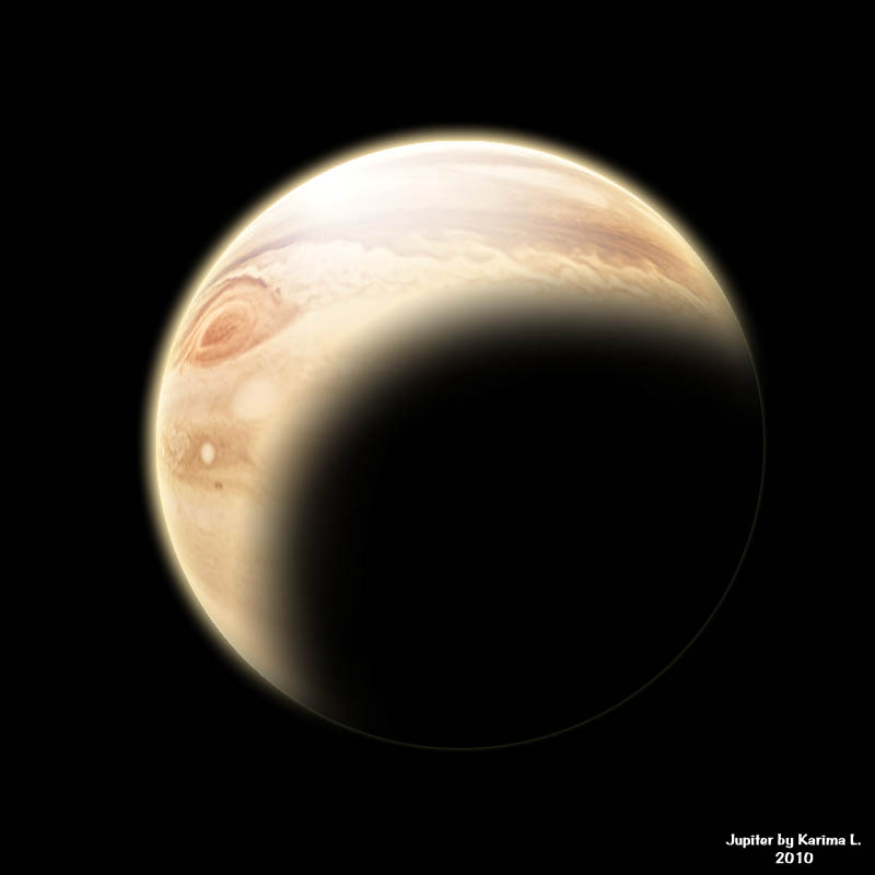 Jupiter digital image created by Karima L.