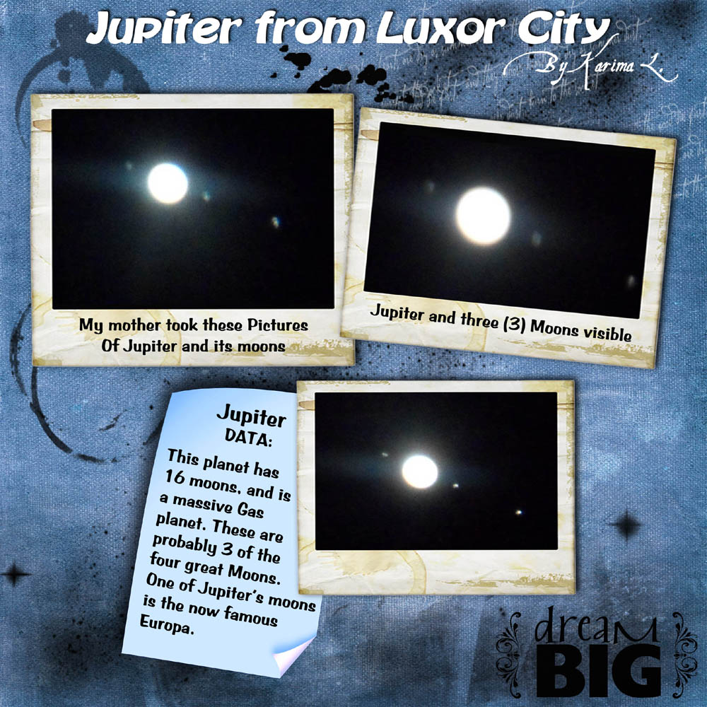 My Mother took these pictures of Jupiter