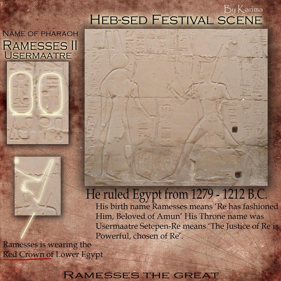 Rameses II Heb-Sed festival scene